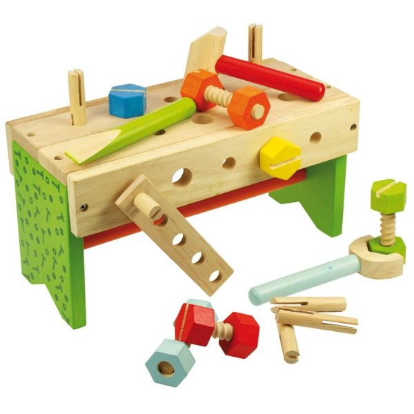 Wooden Carpenters Bench Pretend Play